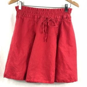 ❤️ 3/$30- Linen circle skirt in coral colour